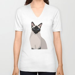 The Regal Siamese Cat Unisex V-Neck