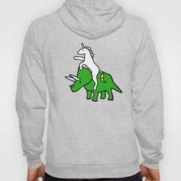 Unicorn Riding Triceratops Hoody