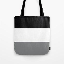 Trio Shades, Black White & Gray Tote Bag