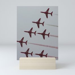 Royal Air Force Fighter Planes In Formation Mini Art Print