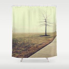 Bereft Fog Shower Curtain
