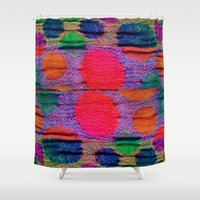 knit Shower Curtains featuring Faux Knit by Mirabella Market