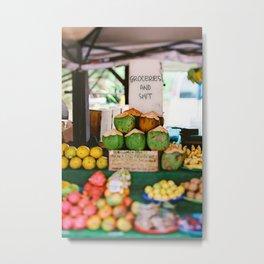 Tropical Groceries and Shit Metal Print
