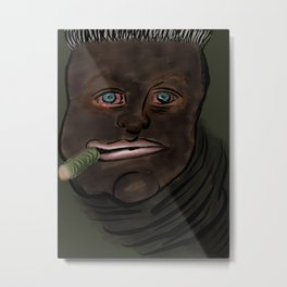 Worm Man Metal Print