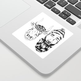 Paul and Babe II Sticker