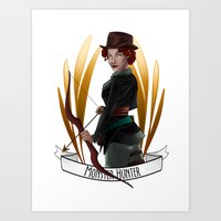 monster hunter Art Prints featuring Steampunk Occupation Series: Monster Hunter by kortothecore