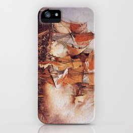 Naval battle between the Confiance and HMS Kent iPhone Case