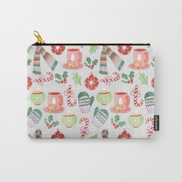 Cozy Christmas Pattern Carry-All Pouch