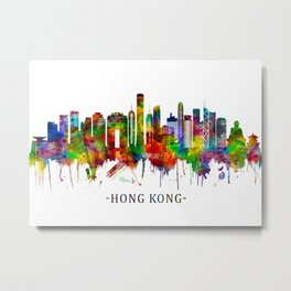 Hong Kong China Skyline Metal Print