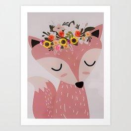 Easter Fox Art Print