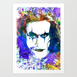 Brandon Lee, Eric Draven, The Crow Art Print