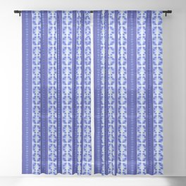 Shibori strips Sheer Curtain