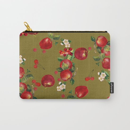 cherries and apples 3 Carry-All Pouch