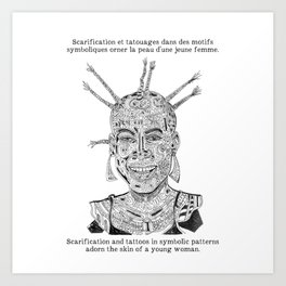 Scarification et tatouages / Scarifcation and tattoos Art Print