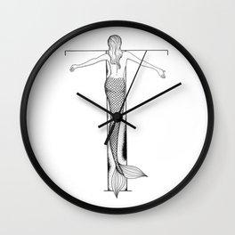 Mermaid Alphabet Series - T Wall Clock
