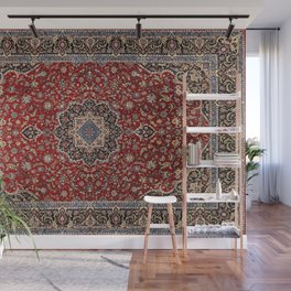 N63 - Red Heritage Oriental Traditional Moroccan Style Artwork Wall Mural