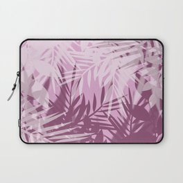 Pink tropical background Laptop Sleeve