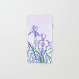 purple iris watercolor Hand & Bath Towel