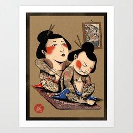 Japanese Tattoo  Art Print