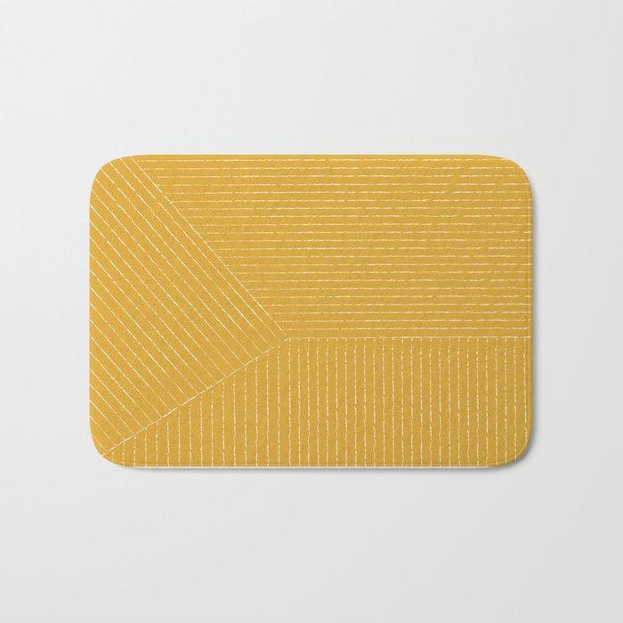 Lines / Yellow Badematte