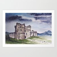 monty python Art Prints featuring Doune Castle, Perthshire, Scotland. Outlander. Monty Python. Version 1 (No text title) by JVB 2014
