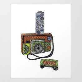 Camera Kodak Instamatic Art Print