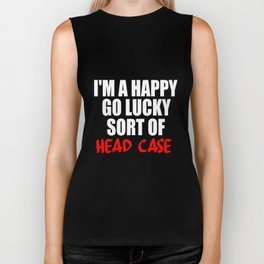 funny sayings and quotes headcase Biker Tank