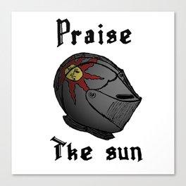 Praise the sun Canvas Print
