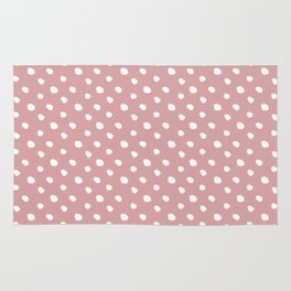 Mauve polka dots pattern - classy college student collection Rug