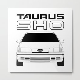GEN1 SHO Inverted Monochrome Metal Print