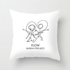 FLOW by ISHISHA PROJECT Throw Pillow