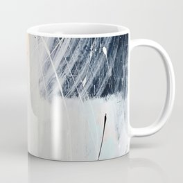 Midnight Time Lapse: a minimal, abstract mixed-media piece by Alyssa Hamilton Art in Gold, Black Coffee Mug
