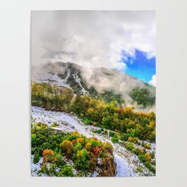 Autumn in Mountains Poster