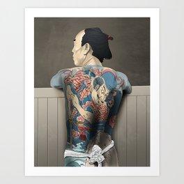 Tattoo Yakuza Art Print