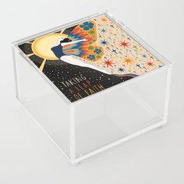 Taking a leap of faith Acrylic Box
