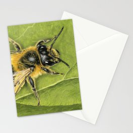 Honeybee On Leaf Stationery Cards