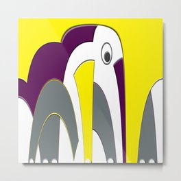 Elephant Abstract Metal Print