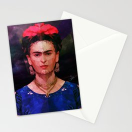 FRIDA KAHLO GEOMETRIC PORTRAIT Stationery Cards