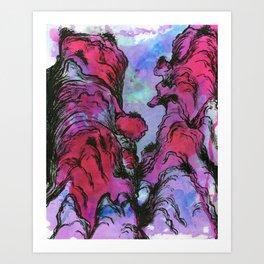 Pink Canyon Art Print