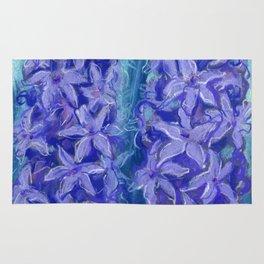 Hyacinths, violet version Rug
