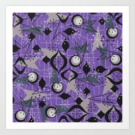 Mid Century Atomic Arrow Patterns Art Print