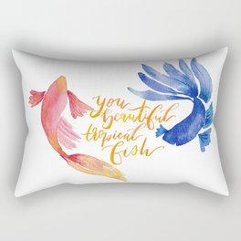 You Beautiful Tropical Fish Rectangular Pillow
