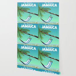 'Pure Paradise' Jamaica travel poster Wallpaper