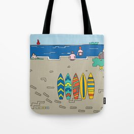 Afternoon at the beach (b) Tote Bag