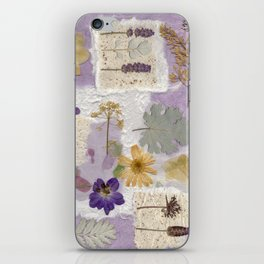 Lavender Collage iPhone Skin