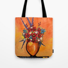 Flowers On Table Tote Bag