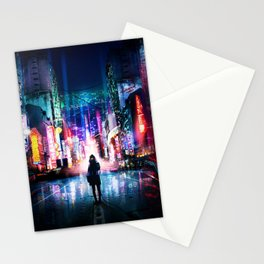 Tokyo Cyberpunk Japan Stationery Cards