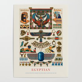 Albert Racinet - Egyptian pattern from L'ornement Polychrome (1888) Poster