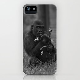 Cheeky Gorilla Lope Mono iPhone Case