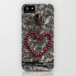 Autumn Heart of red Berries iPhone Case